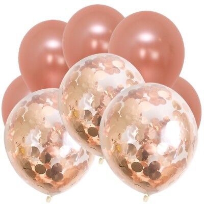 Stunning Metallic Rose Gold Confetti Balloon Bouquet-Wedding Decorations-Party!!