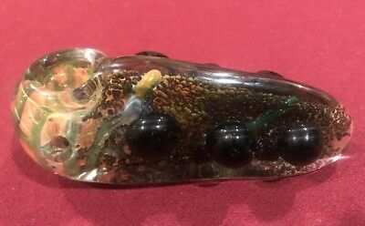 """4"""" Inch Taste Of Nature 2 Heavy TOBACCO Smoking Pipe Herb bowl Glass Hand Pipes"""