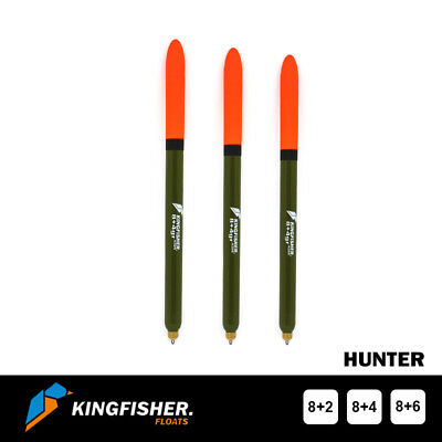 "WAGGLER FISHING FLOAT The Kingfisher ""Hunter"" Pack of 3"