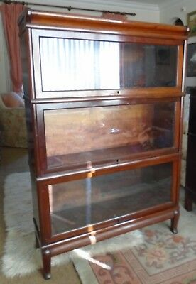 Antique Globe Wernicke stacking / modular glass fronted bookcase