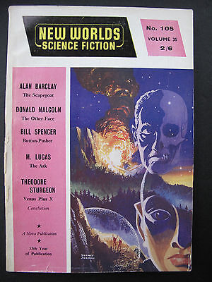 UK Magazine - NEW WORLDS SCIENCE FICTION No.105, Apr 1961
