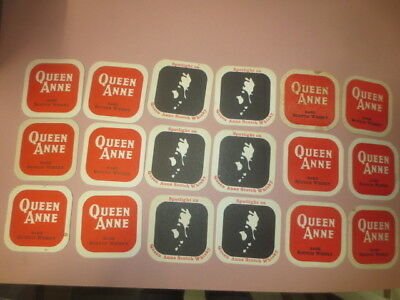 3 x 6 diff. QUEEN ANNE 1970,s Issue Scotch Whisky Australian Issue COASTERS