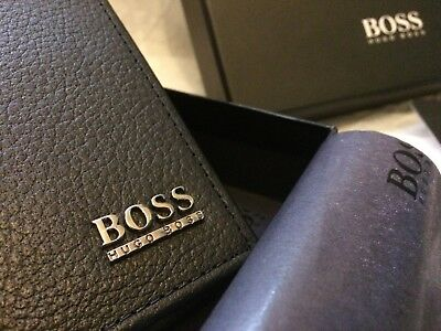 Brand New Authentic Hugo Boss 'Monist' Credit Card Bifold Leather Wallet