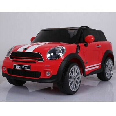 White Official Bmw Classic Mini Cooper Mp3 Rc Kids Ride On Car 12V Twin Motor