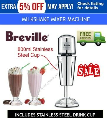 Stainless Steel Milkshake Mixer with Stainless Steel Drinking Cup Smoothie Drink