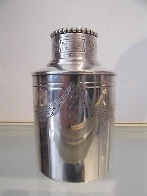 Gorgeous early 20th c french sterling silver bottle Louis XVI st 183g 6,45oz