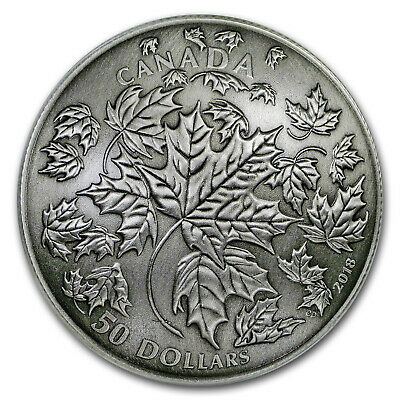 2018 Canada 5 oz Silver Maple Leaves in Motion - SKU#162317