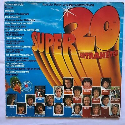 Super 20 Hitraketen, Pop, Retro, Musik, Music, Schallplatte, LP