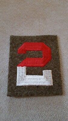 WW2 US Vintage 2nd Army Patch Larger Size Embroidered on Felt #110