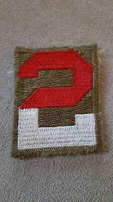 WW2 US Vintage 2nd Army Square Patch Top Full Embroidered US Made #112