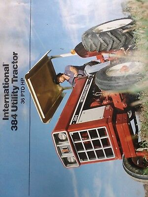 Vintage International 384 Utility Tractor Sales Brochure