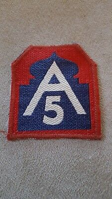 WW2 US Vintage 5th Army Patch Italian Made  #123