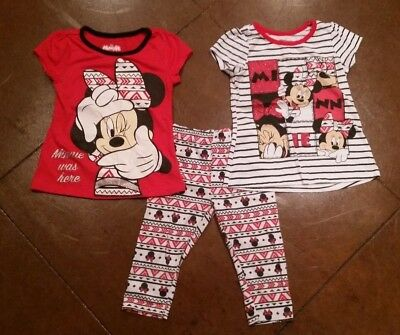 Toddler Girls 3-Piece Minnie Mouse Outfit Mix-and-Match, 4T