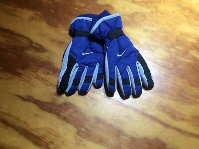 NIKE GLOVES YOUTH BlUE/GRAY 3M THINSULATE SKI GLOVES BOYS Size 8-20 NWT