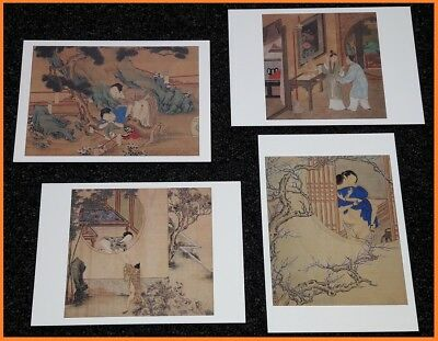 4 CP shunga amour ART EROTIQUE chine / Collection F.Bertholet / Shizhou Xu Guan