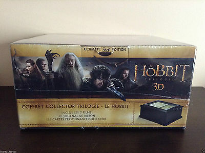 The Hobbit -Trilogy (Limited Edition Wooden Box) - Blu-ray 3D/2D/DVD BRAND NEW