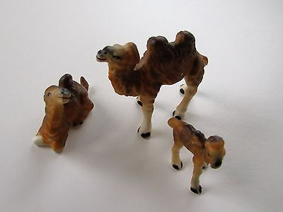 Vintage 1970s Camel Family of 3 excellent cond. matte finish, Japan bone china