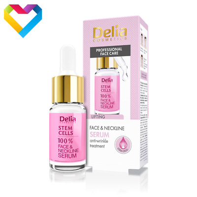 DELIA FACE & NECKLINE STEM CELLS LIFTING SERUM ANTI WRINKLE TREATMENT 10ml