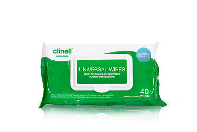 Clinell Universal disinfecting Wipes - 40 Pack