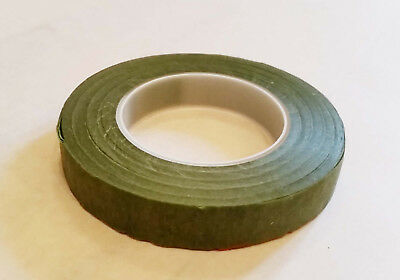 27m roll GREEN 12mm wide Florist Tape Ideal moss Stem Wrapping Flower Bouquets