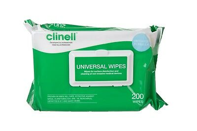 Clinell Universal Disinfectant Wipes 200