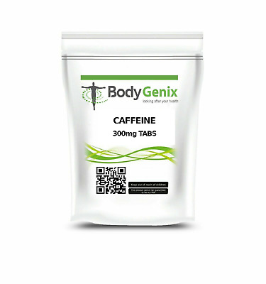 Caffeine Tablets 300mg - Bodygenix - Pre Workout | Slimming | Focus | Energy