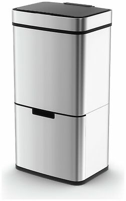 Morphy Richards 75 Litre Recycle Bin - Stainless Steel  V103064