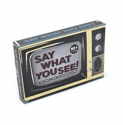 Say What You See Game, quick fire catchphrase party game, Xmas family fun pp2836