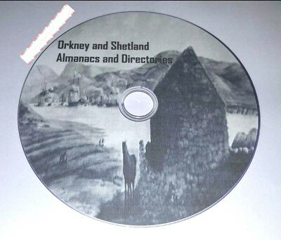 Orkney and Shetland almanac's and directory in PDF Format for PC Laptop on disc