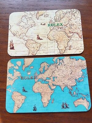 Rolex Calendar Cards 1994/ 1995, A Pair Of Transitional New & Old World Styles