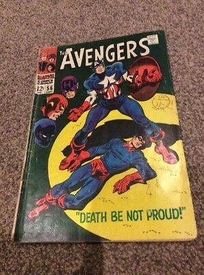 """""""The Avengers"""" Collectors Comic book  """"Death Be Not Proud"""" #56 SEPT"""