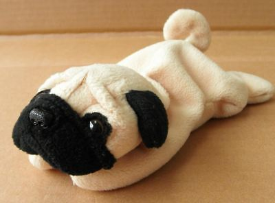 TY Pugsly the Dog Beanie Baby by TY~BEANIES DOGS