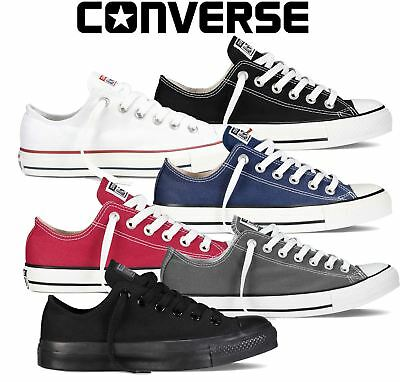 Converse Chuck Taylor All Star Lo Tops Mens Womens Unisex Canvas Trainers