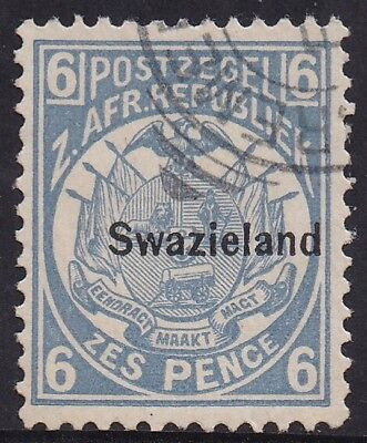 Swaziland 1889 Overprinted Transvaal Arms 6D Used