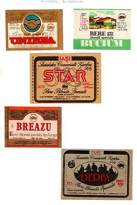 Societatea Comerciala Zimbrul SA - Brewery, Romania 10 old labels - 3 scans