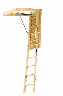 Louisville Ladder S254P 250-Pound Duty Rating Wooden Attic Ladder Fits 7-Foot...