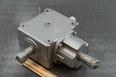 """Browning H9 Bevel Gear Drive Speed Reducer 1"""" Shaft 1:1 Ratio GearBox"""