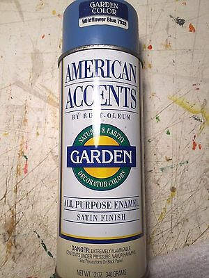 Vintage Spray Paint Rustoleum American Accents Wildflower Blue