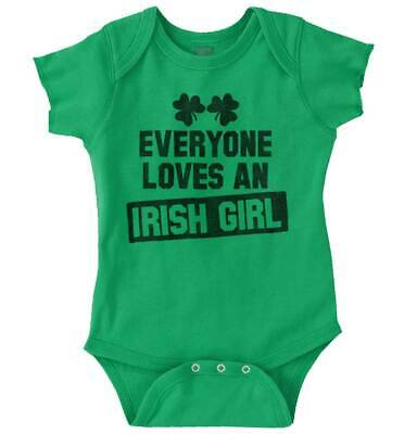 Everyone Love Irish Girl St Patrick Day Shirt Patty Cool Gift Romper Bodysuit