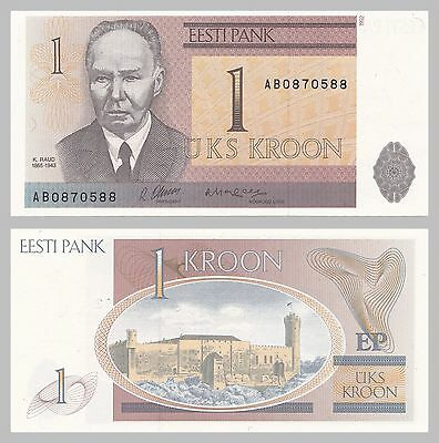 Estland / Estonia 1 Kroon 1992 p69a unc