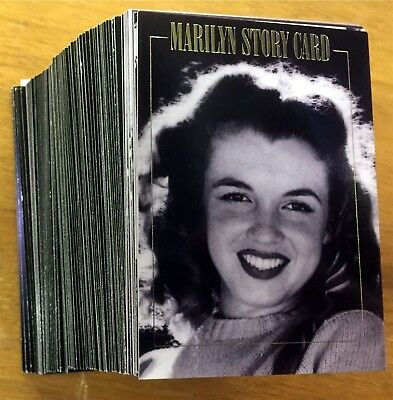 """1993 Marilyn Monroe 100 Pc Card Set """"the Private Collection"""" With 15 Story Cards"""
