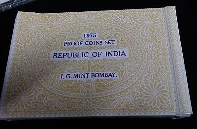 1975 India Proof Set 10 Coin Set Original Box