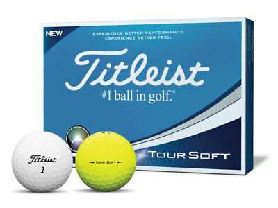 1 Dozen New Titleist Tour Soft Golf Balls White Or Yellow
