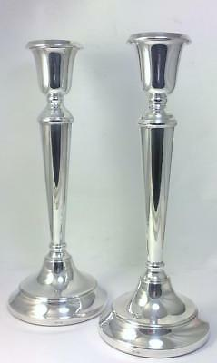 "Pair of Vintage hallmarked Sterling Silver 26cm (10 ¼ "") Candlesticks - 1993"