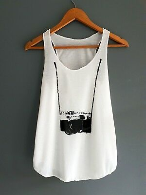 New Women Ladies Print Summer lightweight stretchy cotton Vest Sleeveless top