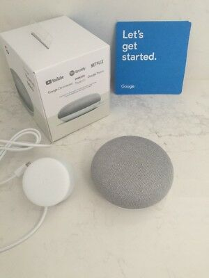 Google Home Mini In Chalk used once