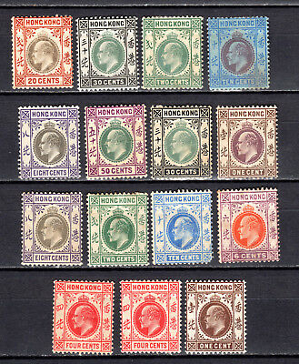 Hong Kong 1902-1907 China Kevii Selection Of Mh Stamps Mounted Mint