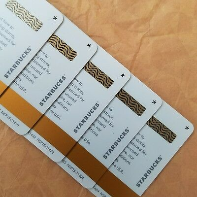 5 RARE Starbucks gift cards Asterisk Star Brand New Unswiped Pin intact Limited