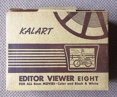 Vintage Kalart Editor Viewer Eight EV-8 DS 8mm Film Splicer Bakelite TESTED