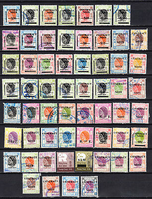 Hong Kong China Qeii Stamp Duty Revenue Up To $200 Selection Of Used Stamps